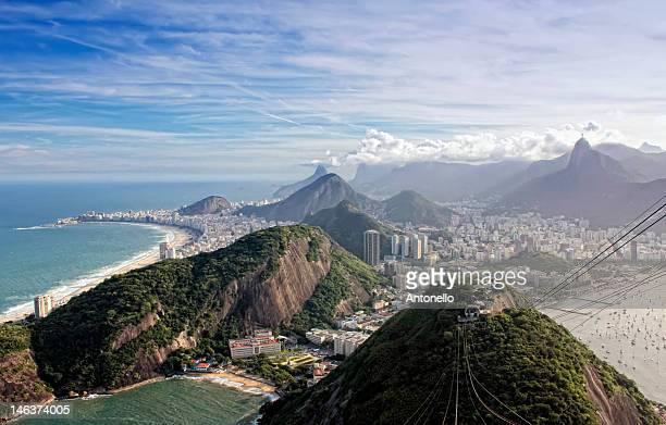 praia vermelha and copacabana beaches - botafogo brazil stock pictures, royalty-free photos & images