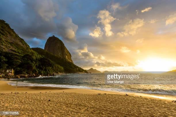 Praia Vermelha Beach Located Next To Sugar Loaf Mountain, Urca