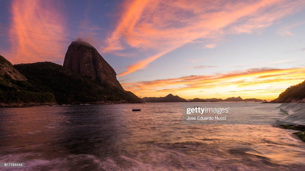 Praia Vermelha , sunrise , Rio de Janeiro - Brazil : Stock Photo