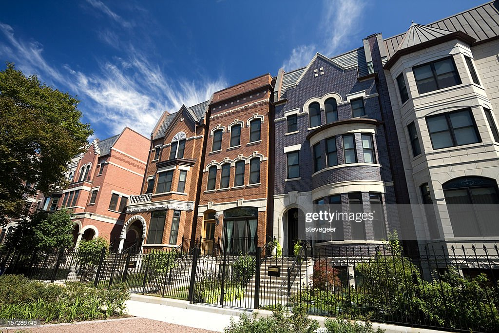Prairie Avenue Mansions in Chicago : Stock Photo