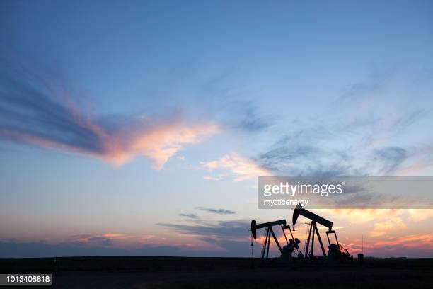 prairie oil saskatchewan canada - oil stock pictures, royalty-free photos & images
