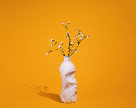 Prairie Wildflowers in a Repurposed Vase - gettyimageskorea