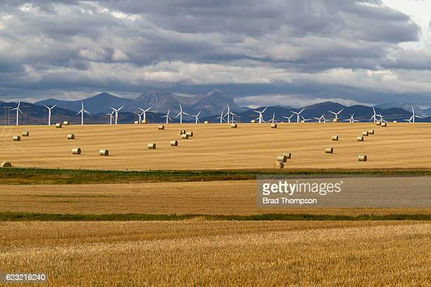 prairie wind mountains - canadian prairies stock photos and pictures