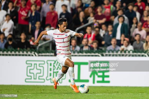 Prak Mony Udom of Cambodia in action during the FIFA World Cup Asian Qualifier second round match between Hong Kong and Cambodia on November 19 2019...