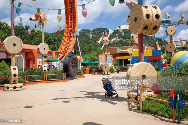 A pram is seen at Walt Disney Co's Disneyland Resort on June 18 2020 in Hong Kong China