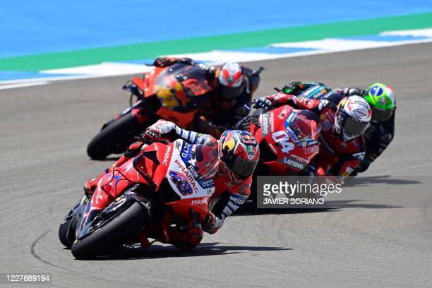 Pramac Racing's Australian rider Jack Miller competes during the MotoGP race of the Spanish Grand Prix at the Jerez racetrack in Jerez de la Frontera...