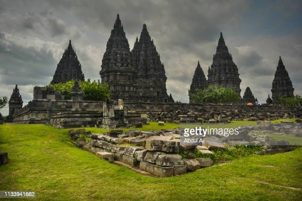 prambanan temple the great - jakarta stock pictures, royalty-free photos & images