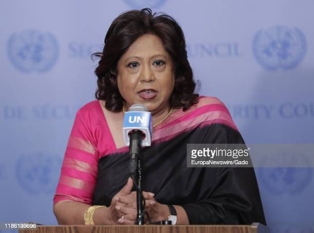 Pramila Patten, Special Representative of the Secretary, at the United Nations, October 30, 2019.