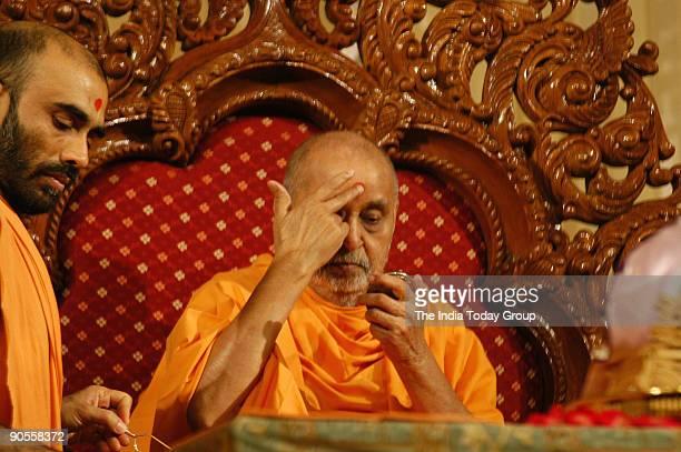 Pramukh Swami Maharaj is the fifth successor of Bhagwan Swaminarayan of Akshardham mandir at Ahmedabad in Gujarat India