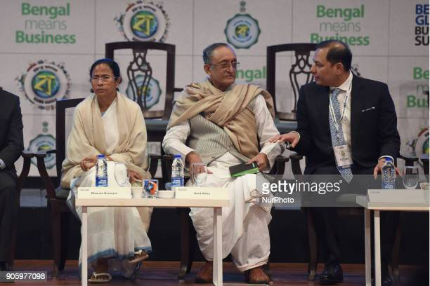 Pranav AdaniDirector of Adani Enterprises along Mamata Banerjee Chief Minister of West Bengal and Amit Mitra State Finances Minister at The 2nd day...