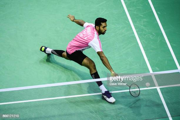 HS Prannoy during the Yonex Badminton French Open at Stade Pierre de Coubertin on October 25 2017 in Paris France