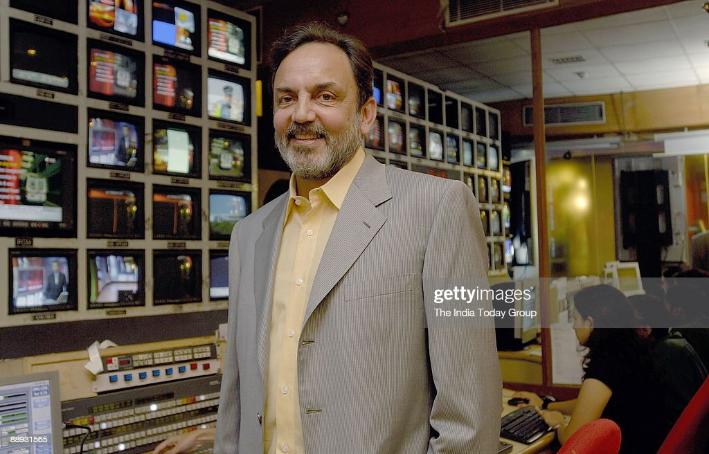 Prannoy Roy, Chairman and Wholetime Director, New Delhi Television (NDTV). poses at office, in Delhi, India, Potrait : News Photo