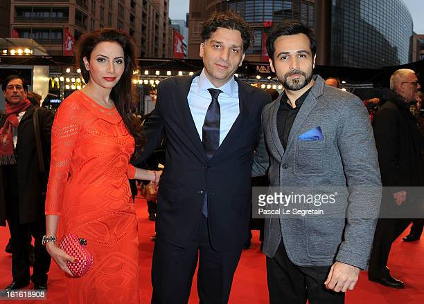 Prashita Chaudhary Danis Tanovic and Emraan Hashmi attend the 'An Episode in the Life of an Iron Picker' Premiere during the 63rd Berlinale...