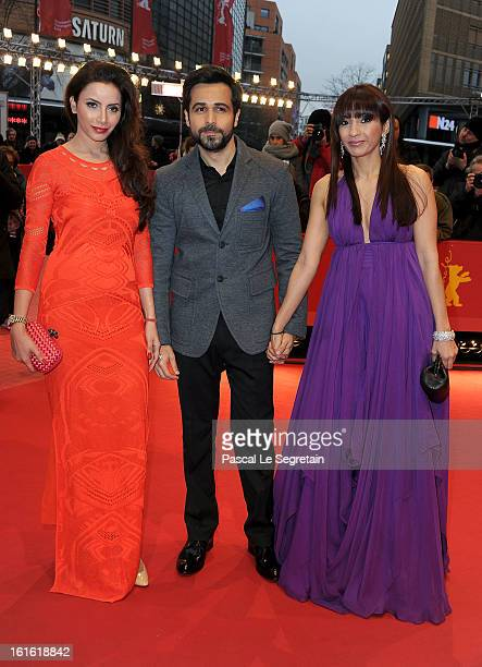 Prashita Chaudhary Emraan Hashmi and Parveen Shahani attend the 'An Episode in the Life of an Iron Picker' Premiere during the 63rd Berlinale...