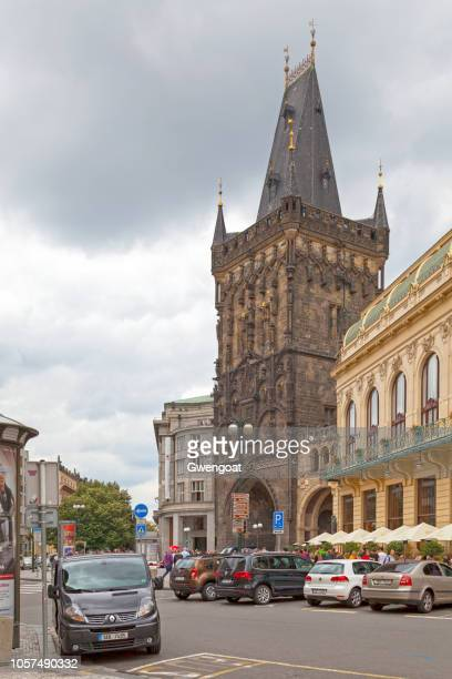 prasna brana in prague - gwengoat stock pictures, royalty-free photos & images