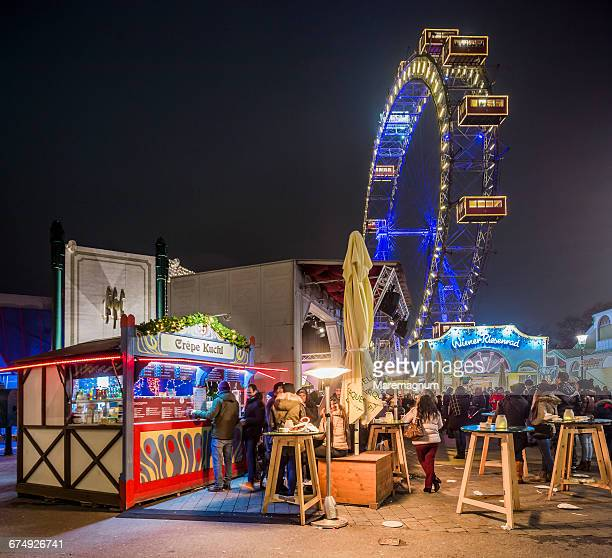 Prater and Giant Ferris Wheel at Christmas time