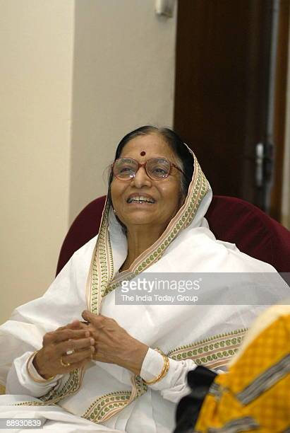 Pratibha Devisingh Patil Governor of Rajasthan and Congress candidate for the forthcoming Presidential election in Jaipur Rajasthan India