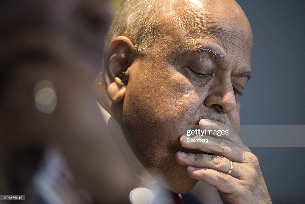 South Africa's Finance Minister Pravin Gordhan Speaks At Pre-Davos Breakfast Event