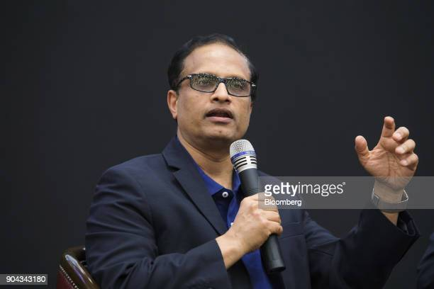 Pravin Rao chief operating officer of Infosys Ltd speaks during a news conference in Bengaluru India on Friday Jan 12 2018 Infosys posted a 38...