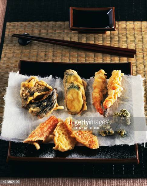 Prawn and vegetable tempura Japan