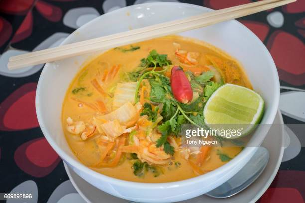 Prawn Laksa, one of the best Asian cuisine in Australian taste.