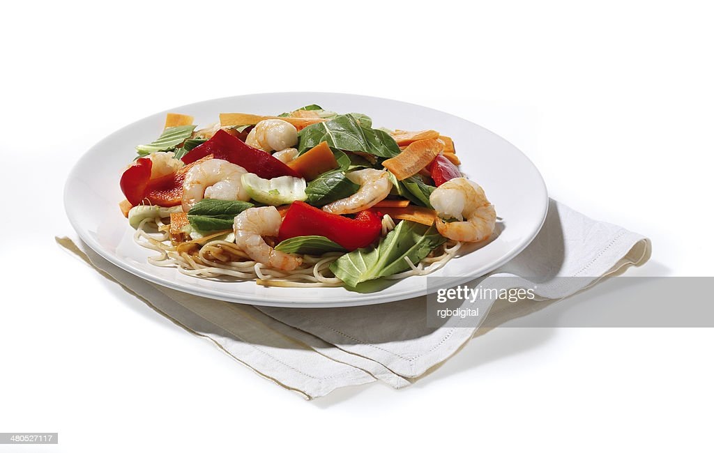Prawn Noodles : Stock Photo