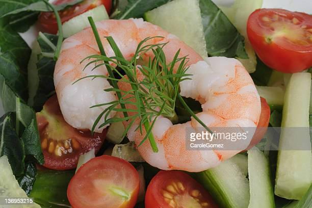 海老のサラダ - 剥いた ストックフォトと画像