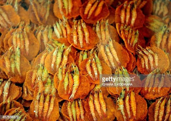 Prawn Snacks Are Displayed At The Galle Face Beach In Colombo On October 20 2017 Pictures Getty Images