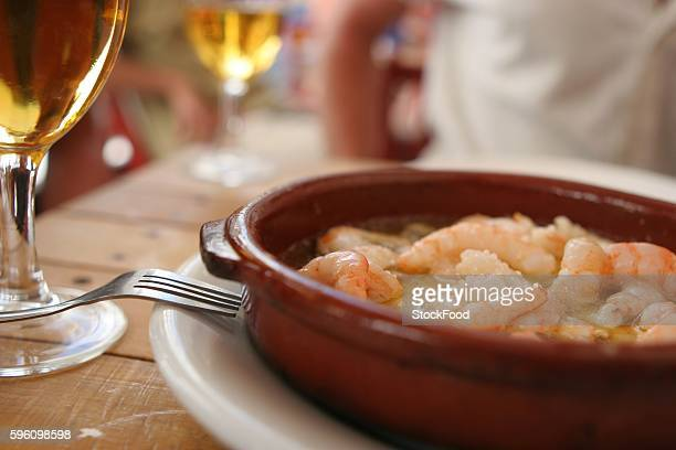 Prawns in garlic sauce