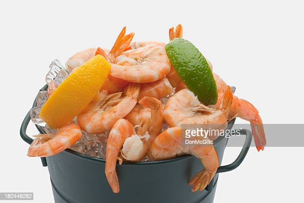 Prawns on Ice in a Bucket
