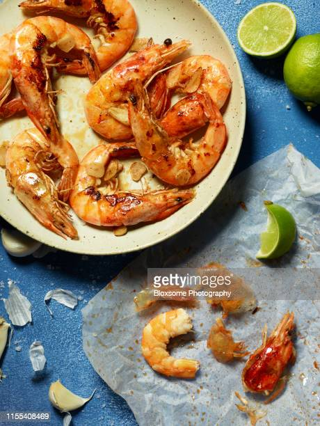 prawns - plate stock pictures, royalty-free photos & images