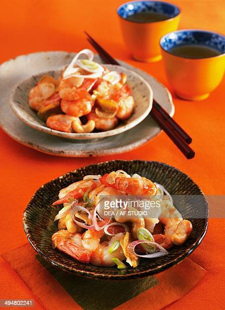Prawns with cashew nuts
