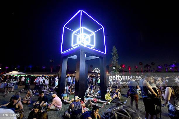 Praxis art installation by Ben Zamora and John Zamora is seen during day 1 of the 2015 Coachella Valley Music And Arts Festival at The Empire Polo...