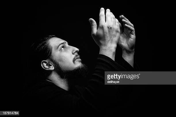 pray - muslim prayer stock pictures, royalty-free photos & images