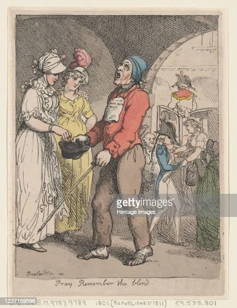 Pray Remember the Blind 1801 Artist Thomas Rowlandson