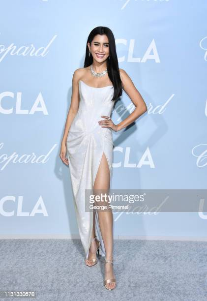Praya Lundberg arrives at the 2019 Hollywood For Science Gala at Private Residence on February 21 2019 in Los Angeles California