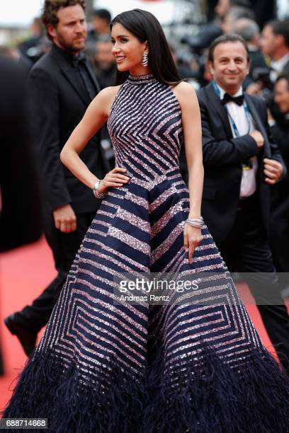 Praya Lundberg attends 'Amant Double ' Red Carpet Arrivals during the 70th annual Cannes Film Festival at Palais des Festivals on May 26 2017 in...