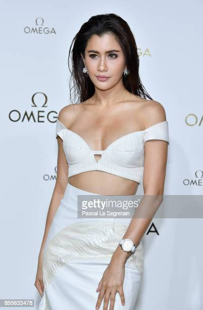 Praya Lundberg attends 'Her Time' Omega Photocall as part of the Paris Fashion Week Womenswear Spring/Summer 2018 on September 29 2017 in Paris France