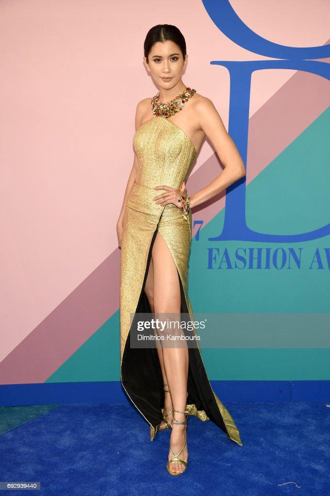 Praya Lundberg attends the 2017 CFDA Fashion Awards at Hammerstein Ballroom on June 5, 2017 in New York City.