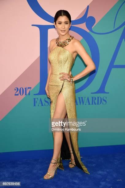 Praya Lundberg attends the 2017 CFDA Fashion Awards at Hammerstein Ballroom on June 5 2017 in New York City