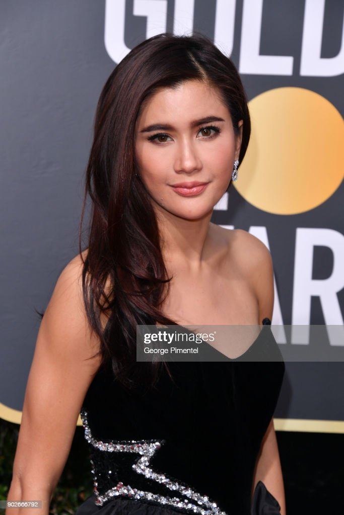 Praya Lundberg attends The 75th Annual Golden Globe Awards at The Beverly Hilton Hotel on January 7, 2018 in Beverly Hills, California.