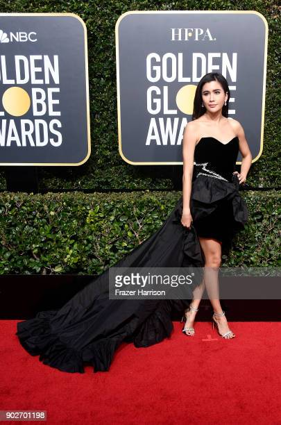 Praya Lundberg attends The 75th Annual Golden Globe Awards at The Beverly Hilton Hotel on January 7 2018 in Beverly Hills California