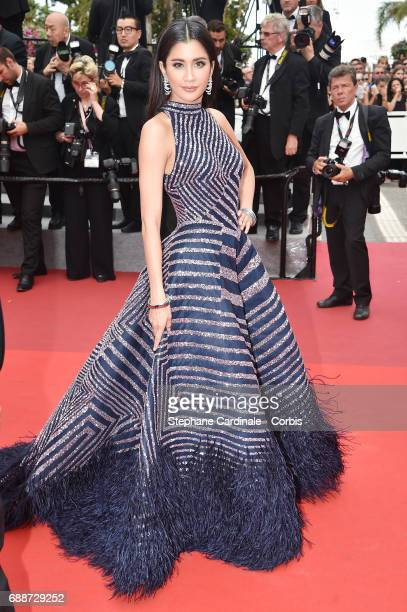 Praya Lundberg attends the 'Amant Double ' screening during the 70th annual Cannes Film Festival at Palais des Festivals on May 26 2017 in Cannes...