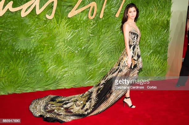 Praya Lundberg attends the Fashion Awards 2017 In Partnership With Swarovski at Royal Albert Hall on December 4 2017 in London England