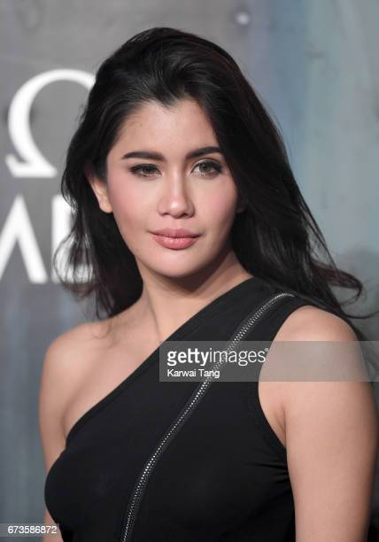 Praya Lundberg attends the Lost In Space event to celebrate the 60th anniversary of the OMEGA Speedmaster at the Tate Modern on April 26 2017 in...