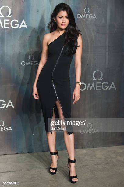 Praya Lundberg attends the Lost In Space event to celebrate the 60th anniversary of the OMEGA Speedmaster which has been worn by every piloted NASA...