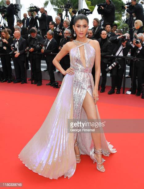 Praya Lundberg attends the screening of A Hidden Life during the 72nd annual Cannes Film Festival on May 19 2019 in Cannes France