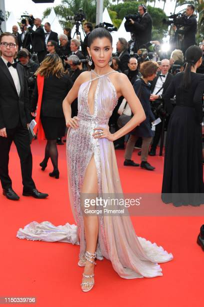 """Praya Lundberg attends the screening of """"A Hidden Life """" during the 72nd annual Cannes Film Festival on May 19, 2019 in Cannes, France."""