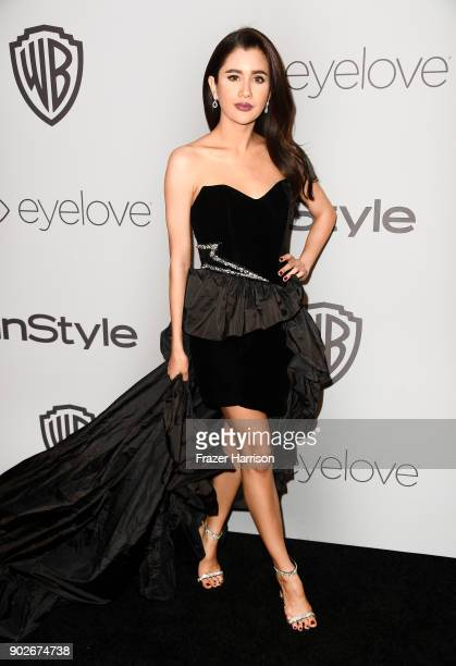 Praya Lundberg attends the Warner Bros Pictures And InStyle Host 19th Annual PostGolden Globes Party at The Beverly Hilton Hotel on January 7 2018 in...