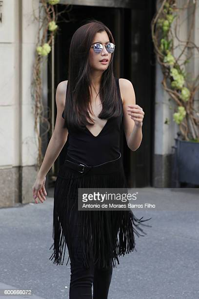 Praya Lundberg is sightings in New York City on September 8 2016 in New York City